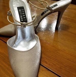 "Stuart Weitzman Champagne 3"" heels"